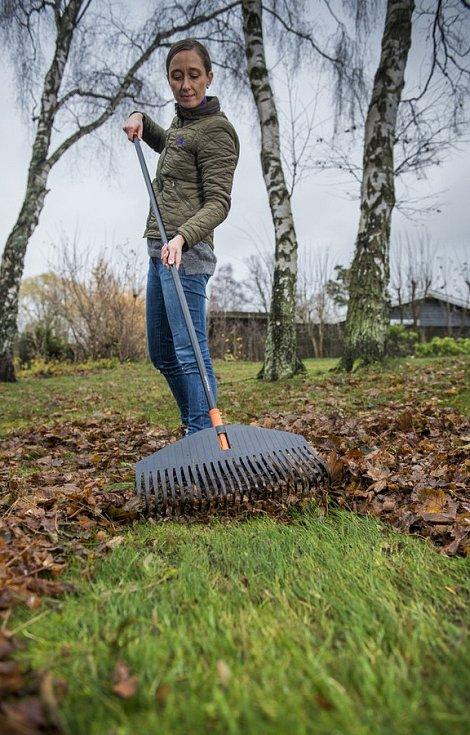 Padající listí sice k podzimu patří, ale z trávníku ho pravidelně a včas shrabujte.