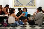 Život v evakuačním centru na Portoriku