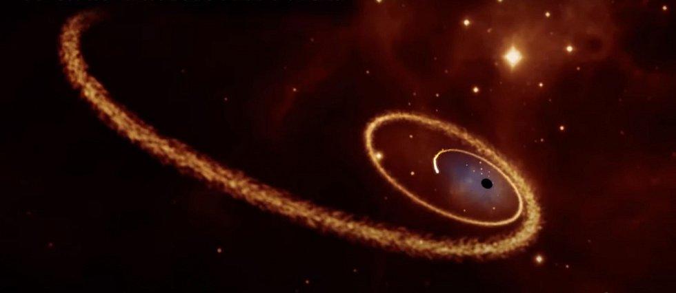 Astronomové zřejmě identifikovali mrtvou hvězdu, uvězněnou na devítihodinové eliptické oběžné dráze kolem supermasivní černé díry