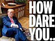 Donald Trump rozzuřil britské noviny, sedl si do křesla po Churchillovi