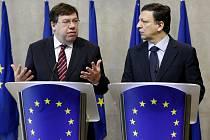 Irský premiér Brian Cowen (vlevo) na stetkání s předsedou Evropské komise Josém Manuelem Barrosou v Bruselu.