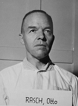 Velitel vraždících jednotek Einsatzgruppe Otto Rasch před Norimberským soudem