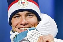 Michal Krčmář se stříbrnou medailí.