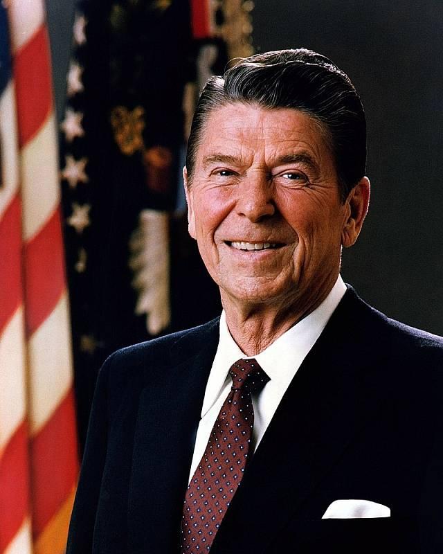 Oficiální portrét amerického prezidenta Ronalda Reagana z roku 1981