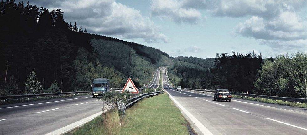 Provoz na dálnici D1 v 70. letech minulého století