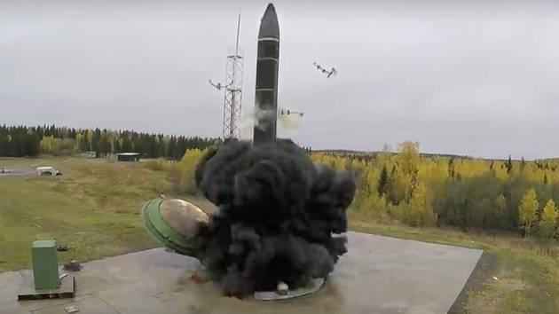 Ruská nadzvuková raketa Avangard. Ilustrační foto.