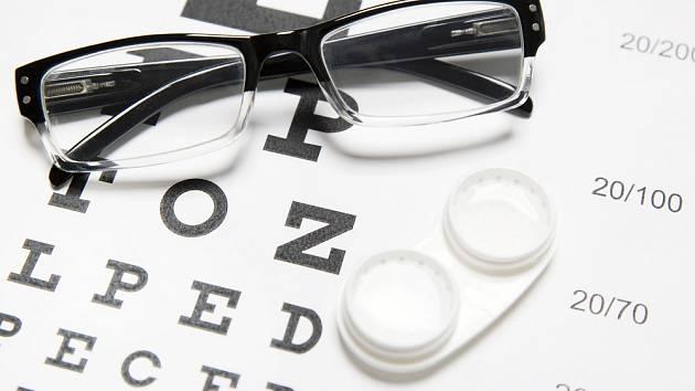 oční vady, ilustrační foto