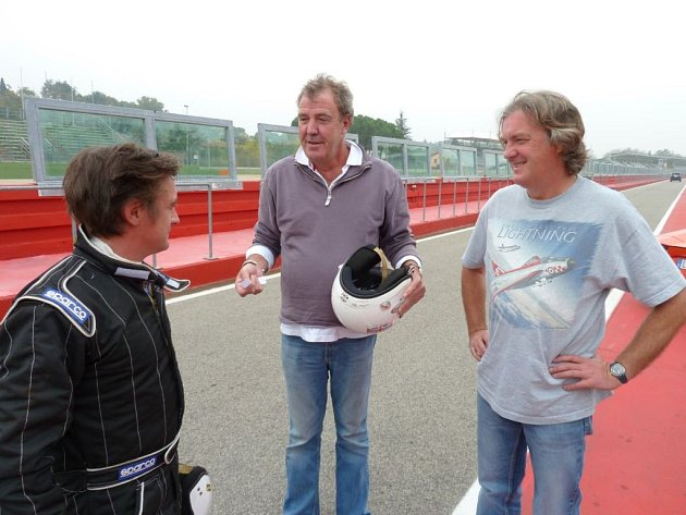 Moderátoři pořadu Top Gear.