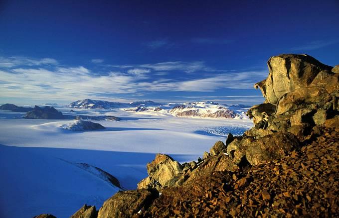 Transantarktické pohoří v severní části Viktoriiny země
