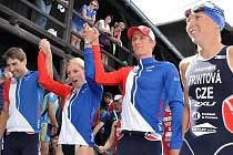 Čeští triatlonisté byli ve smíšené štafetě šestí