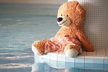 Medvěd přes palubu! Hugo se stal prvním plyšákem, který se topil v berounském aquacentru.