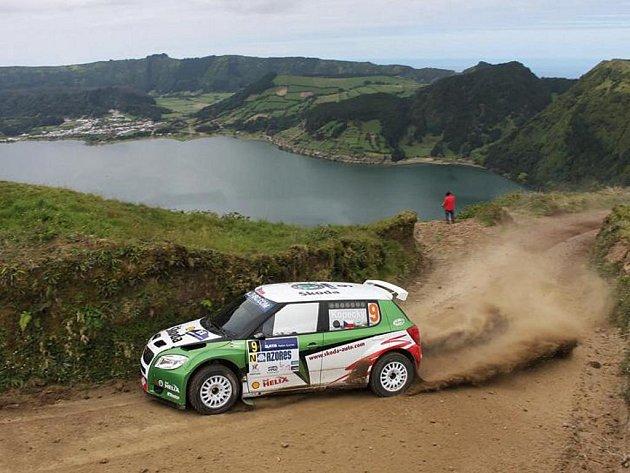 Jan Kopecký vybojoval v portugalské Sata Rallye Acores vynikající druhé místo.