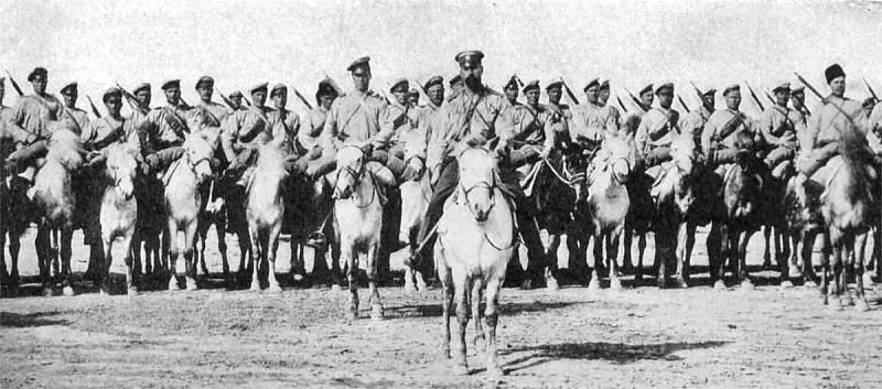 Ruská kozácká jízda během první světové války