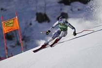 Česká lyžařka Ester Ledecká při závodě Světového poháru ve sjezdovém lyžování v rakouském Svatém Antonu 9. ledna 2021