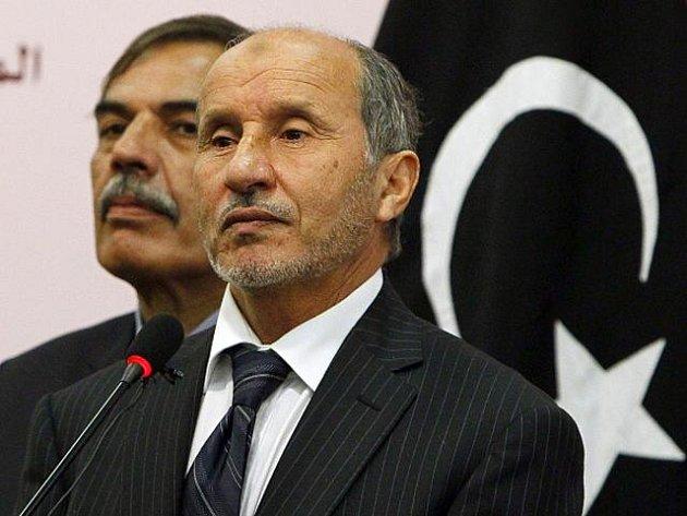 Šéf libyjské Přechodné národní rady (NTC) Mustafá Džalíl.