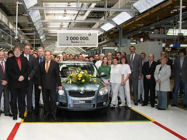 Škoda Auto vyrobila dvoumiliontý vůz Fabia