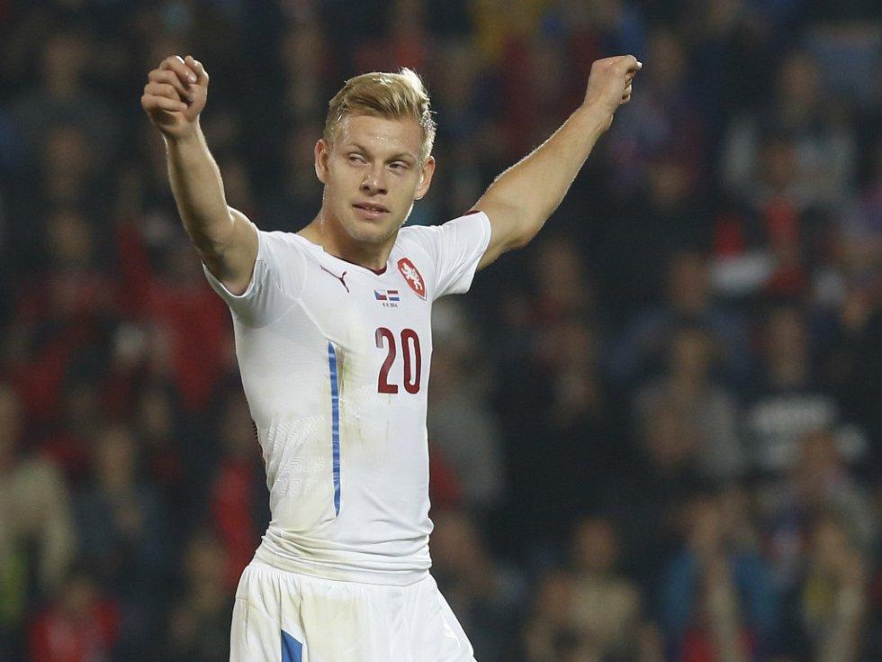 Matěj Vydra se raduje z vítězství nad Nizozemskem.