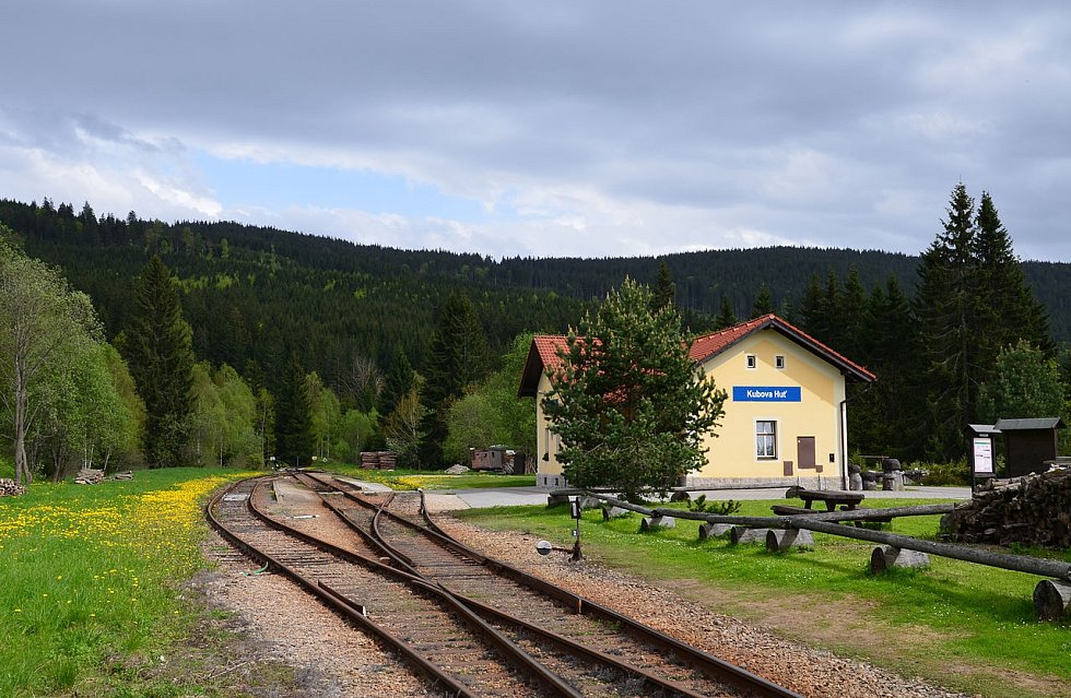 Nejvýše položené české nádraží Kubova Huť