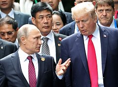 Vladimír Putin a Donald Trump