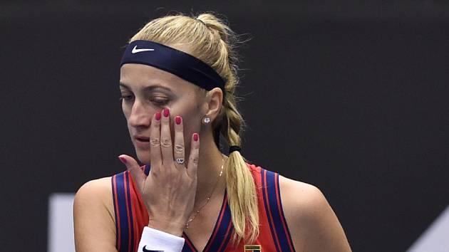 Petra Kvitová na turnaji WTA v Ostravě.