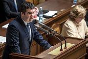 Hlasování o nedůvěře vládě Andreje Babiše 23.  listopadu v Praze. Jan Hamáček