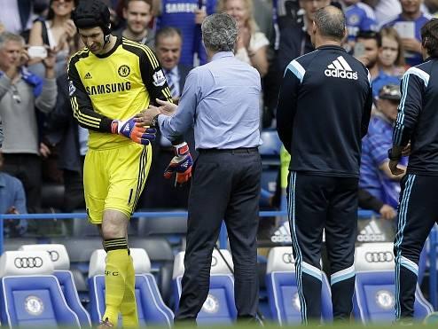 Rozlučka s Chelsea? Petr Čech a José Mourinho