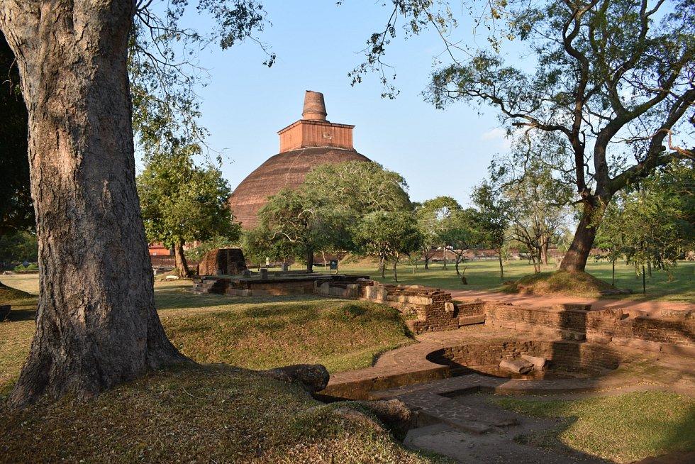 Stúpa ve městě Anuradhapura