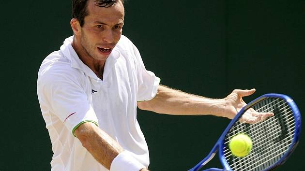 Radek Štěpánek během 3. kola Wimbledonu