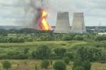 Na elektrárně u severovýchodního okraje Moskvy vypukl velký požár