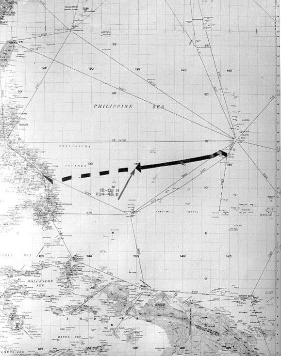 Zamýšlená cesta Indianapolisu z Guamu na Filipíny