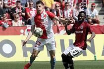 Zápas fotbalové FORTUNA:LIGY mezi SK Slavia Praha a AC Sparta Praha v Edenu.
