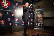Volební štáb Mirka Topolánka při prvním kole prezidentských voleb