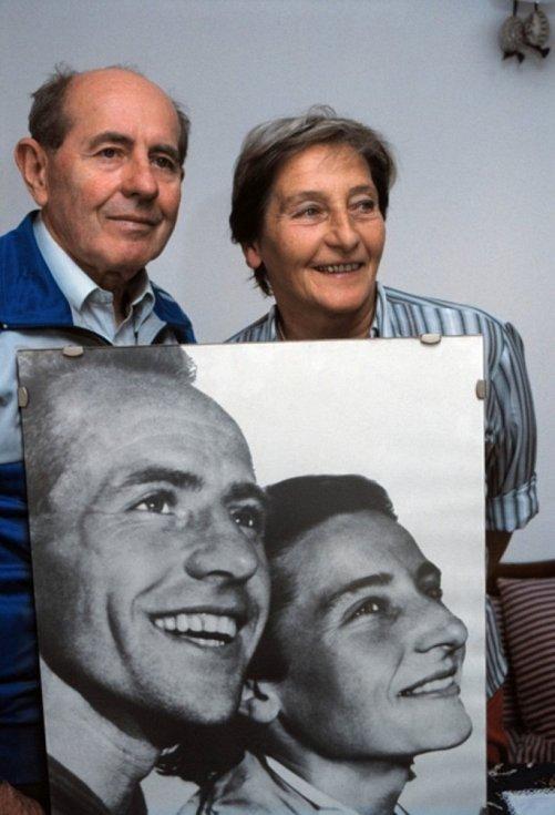 Manželé Dana a Emil Zátopkovi.