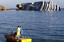 Potopená loď Costa Concordia.