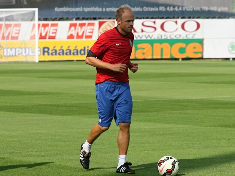 David Jarolím na tréninku Mladé Boleslavi před zápasem s Lyonem.