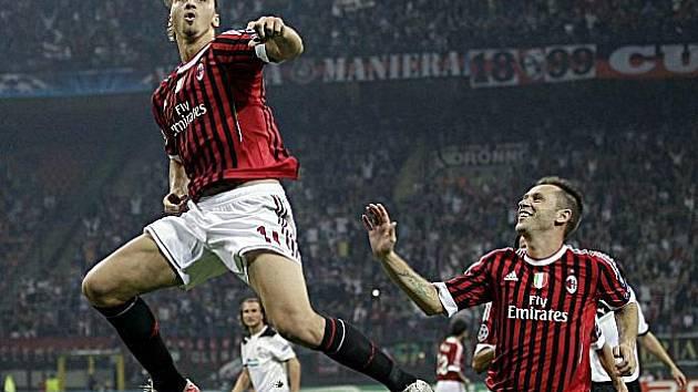 Střelec milánského AC Zlatan Ibrahimovič.