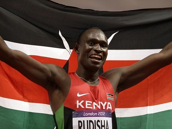 Světový rekordman v běhu na 800 metrů David Lekuta Rudisha.