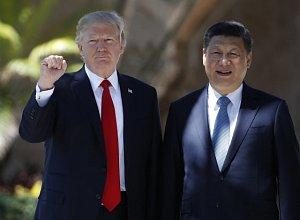 Americký prezident Donald Trump a čínský prezident Si Ťin-pching