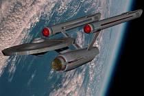 Hvězdná loď USS Enterprise, na které sloužil pan Spock.