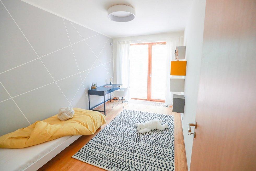 Pražský projekt Aalto Cibulka. Zájemcům je k dispozici vzorový byt
