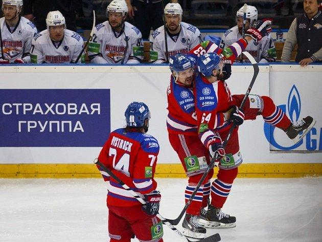 Lev Praha vs. Magnitogorsk: Radost domácích z první branky