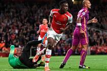 Arsenal - Galatasaray Istanbul: Danny Welbeck se raduje z gólu