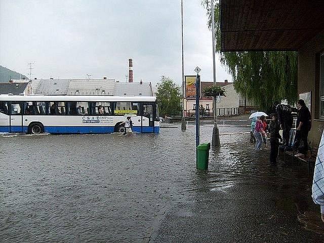 Velká voda v Moravské Třebové v roce 2009.