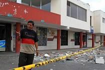 Ekvádor zasáhlo další zemětřesení.