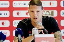 Obránce SK Slavia Praha Jiří Bílek.