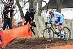 Závod juniorů na MS v cyklokrosu v dánském Bogense.