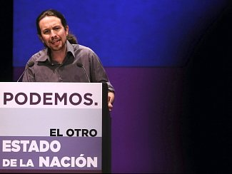 Spoluzakladatel a předseda strany Podemos Pablo Iglesias.