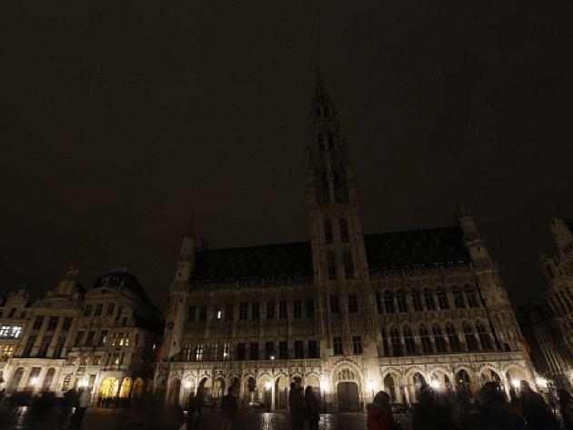 Hodina Země v Bruselu.