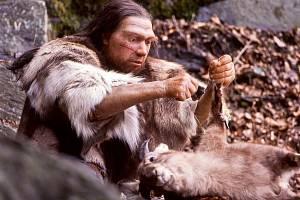 Rekonstrukce neandertálského lovce