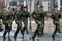 Výcvik vojáků v Jižní Koreji.